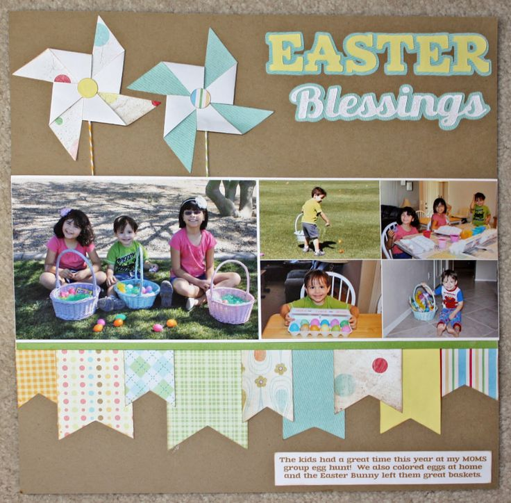 Love this easy to recreate Easter layout #CreativeMemoriesAustralia #Easter
