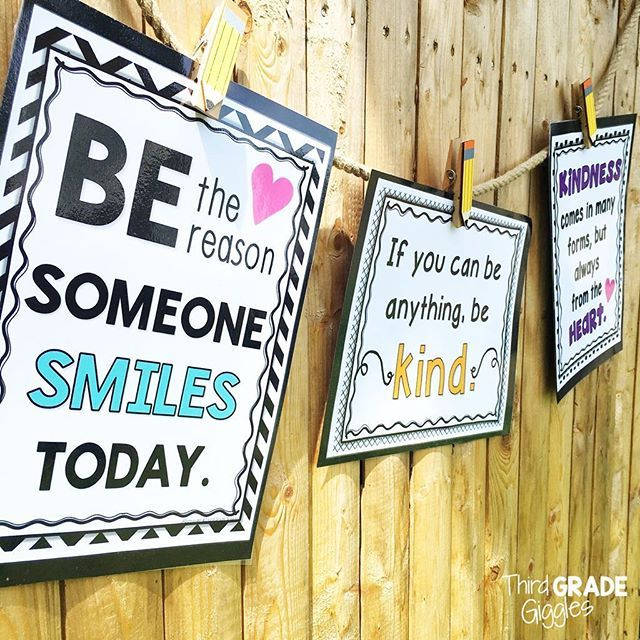 "Create your own ""Kindness Bulletin Board"" and encourage kindness and random acts of kindness in your classroom with these posters and activities. Click to see all the posters included."