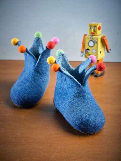 Childrens' Felt Jesterboots from Piece Ltd.