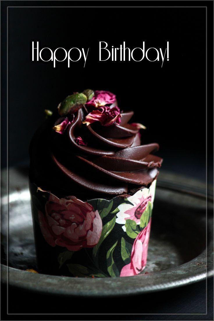 Happy Birthday cupcake Dark chocolate cupcakes, Happy