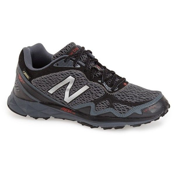 New Balance '910v2' Gore-Tex Waterproof Trail Running Shoe (6,240 PHP) ❤ liked on Polyvore featuring men's fashion, men's shoes, men's athletic shoes, mens running shoes, mens trail running shoes, mens flat shoes, mens gore tex running shoes and mens gore tex shoes