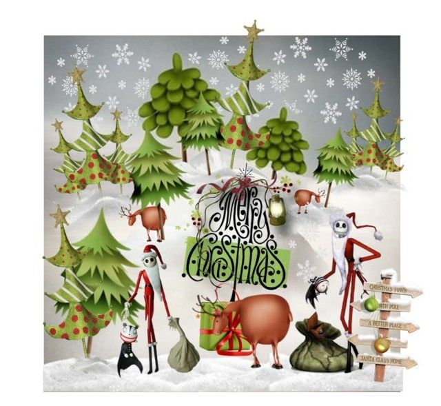 Christmas Nightmare by fractallicious on Polyvore featuring art, holidaygreetingcard and PVStyleInsiders