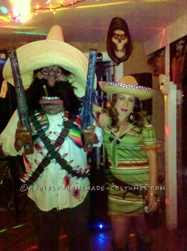 mexican outlaw couples costume with cool homemade accessories - Mexican Themed Halloween Costumes