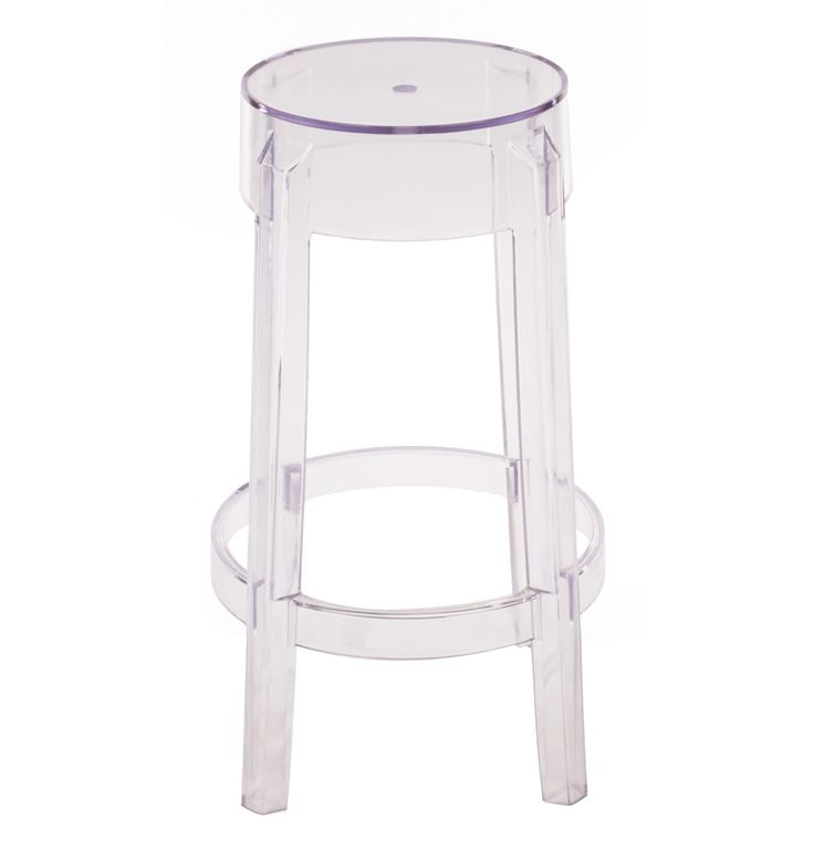 Replica Philippe Starck Charles Ghost Stool 66cm by Philippe Starck - Matt Blatt