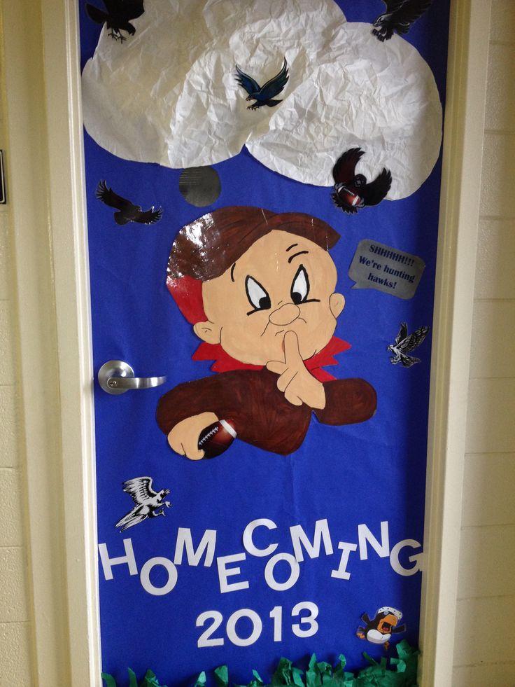 Classroom Decorations For High School ~ Homecoming door decoration bulletin board go greyhounds