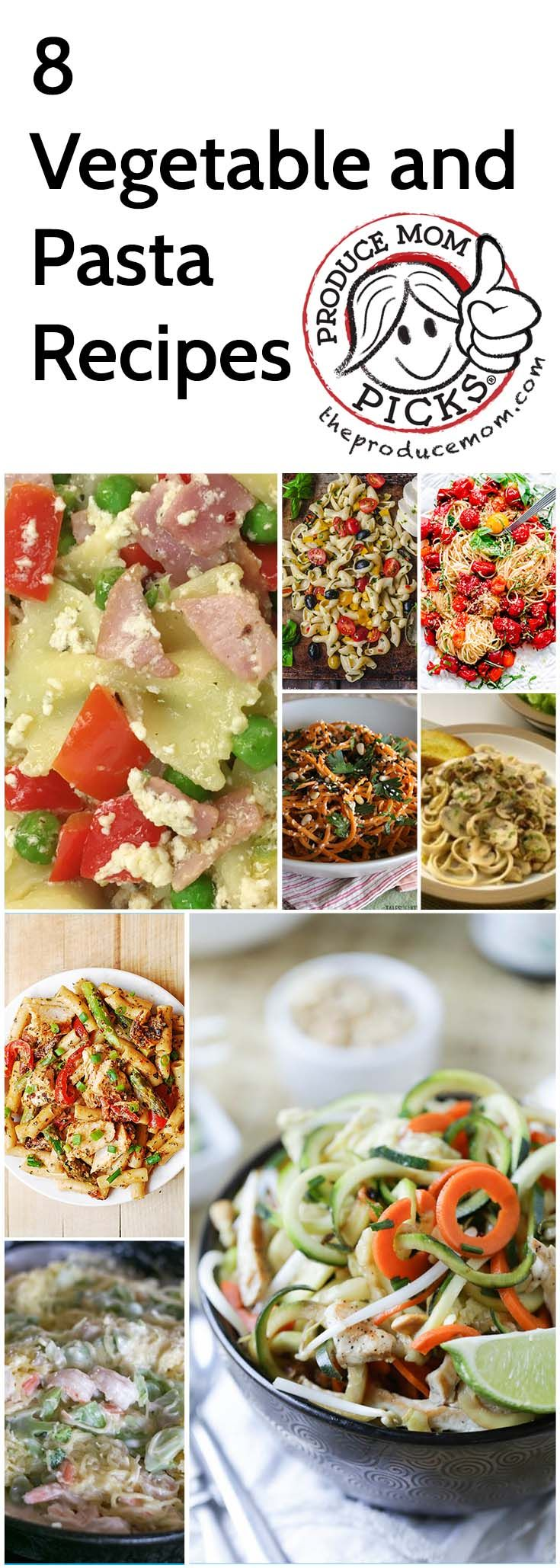 Vegetable and Pasta Recipes from The Produce Mom