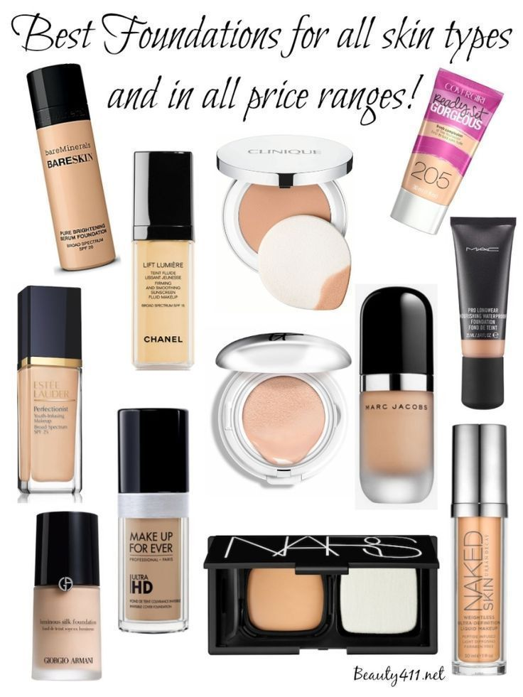 Foundation Cosmetics: Best Foundations For All Skin Types & Price Ranges
