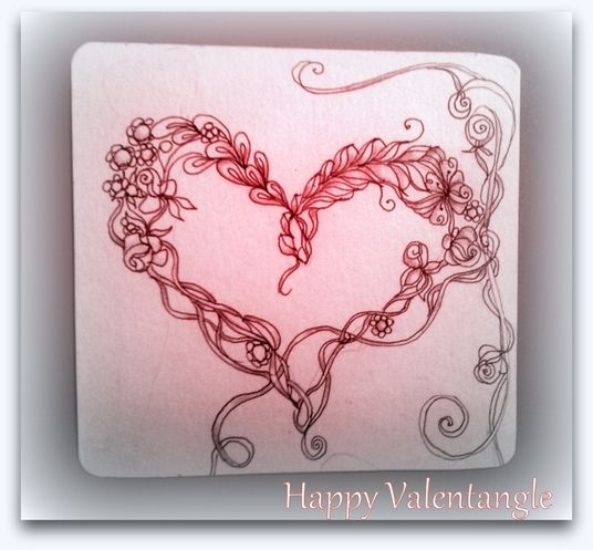 584 best zentangle hearts and stars images on Pinterest ...