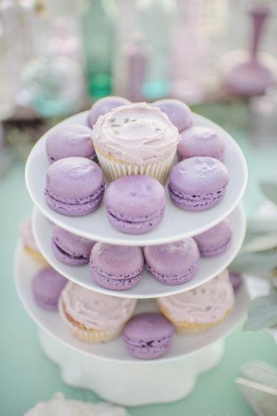 Lavender Macarons + Cupcakes