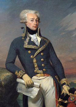 Portrait de Gilbert Motier, marquis de La Fayette, en uniforme de lieutenant-général de 1791, peint par Joseph-Désiré Court en 1834.