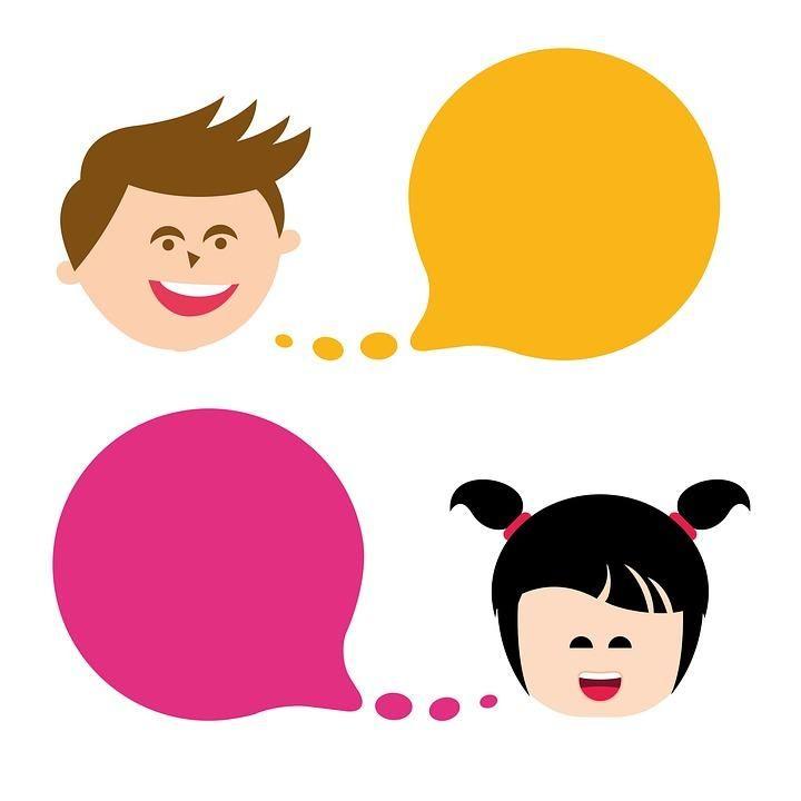 Quiet Conversation Clip Art