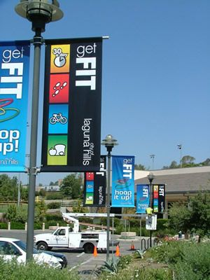 The Outdoor Media Group - Custom Light Pole Banners