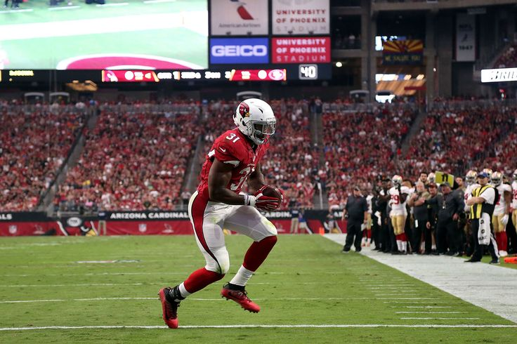 David Johnson Photos Photos - Running back David Johnson #31 of the Arizona Cardinals scores a touchdown during the first quarter of the NFL football game against the San Francisco 49ers at University of Phoenix Stadium on November 13, 2016 in Glendale, Arizona. - San Francisco 49ers v Arizona Cardinals