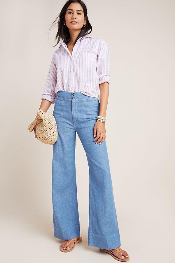 28ac87e8c Pilcro High-Rise Wide-Leg Trouser Jeans in 2019 | Spring Fashion ...