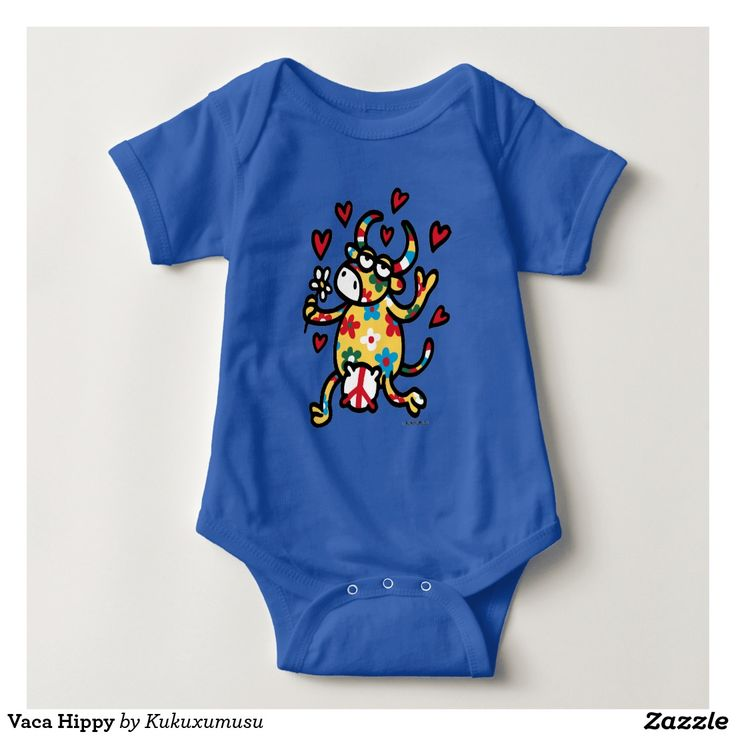 Vaca Hippy. Regalos, Gifts. #camiseta #tshirt