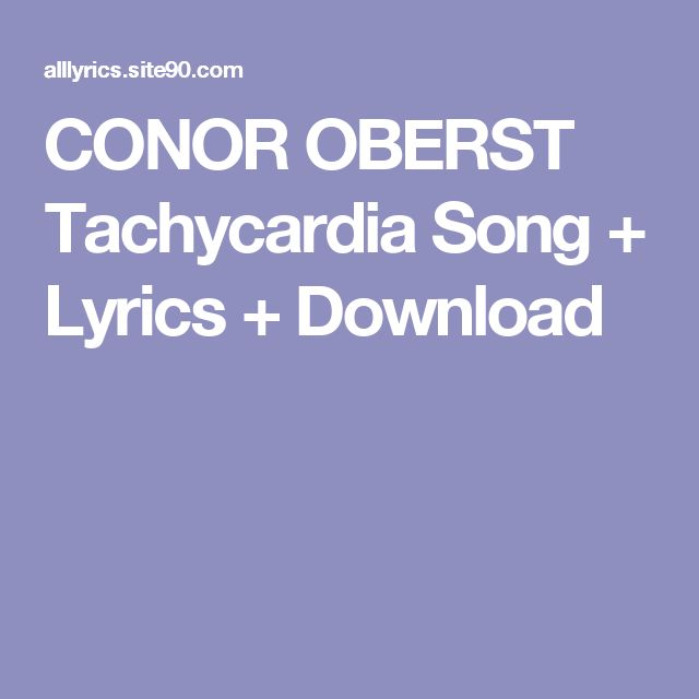 CONOR OBERST Tachycardia Song + Lyrics + Download