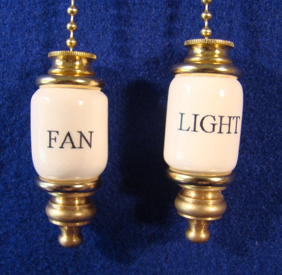 Fan & light ceiling fan pull chain light by CROOKEDOAKCERAMICS, $14.00