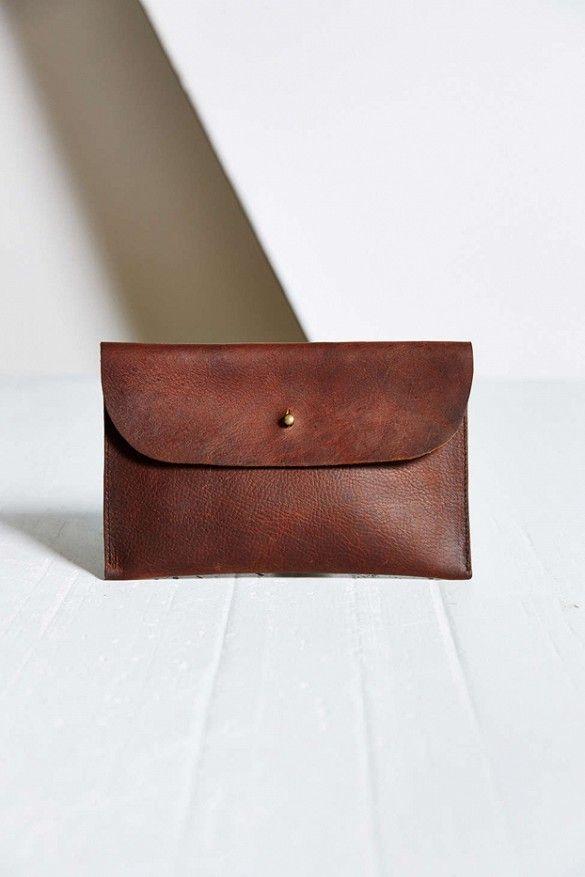 Forestbound Elliot Leather Clutch