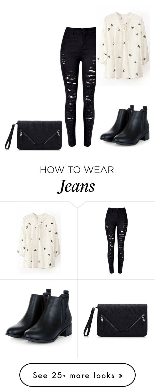 """""""Black jeans"""" by truedirectioner-belieber on Polyvore featuring women's clothing, women, female, woman, misses and juniors"""