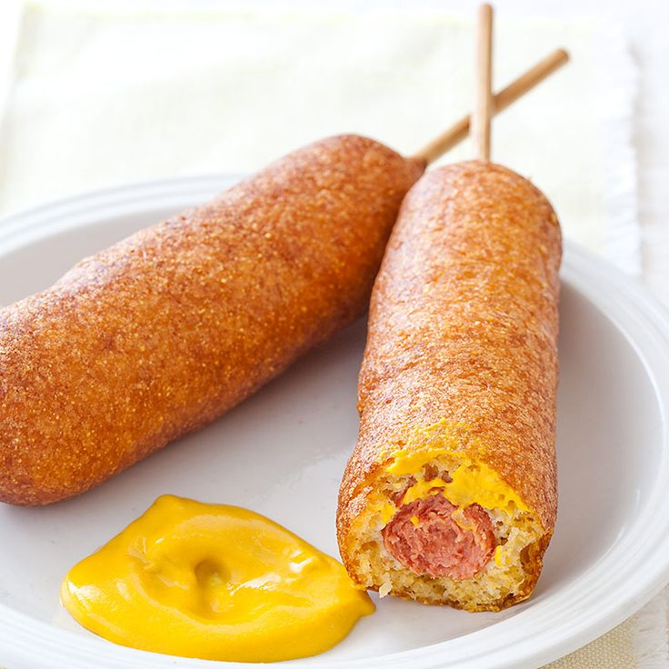 Baseball Season Is In Full Swing—Celebrate with our favorite snack on a stick: Homemade Corn Dogs.