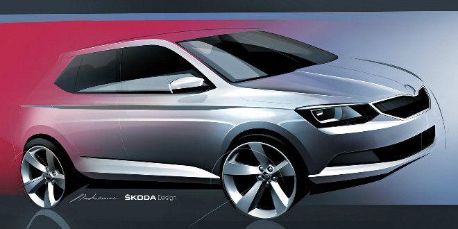 2015 Skoda Fabia Offical Sketch Released