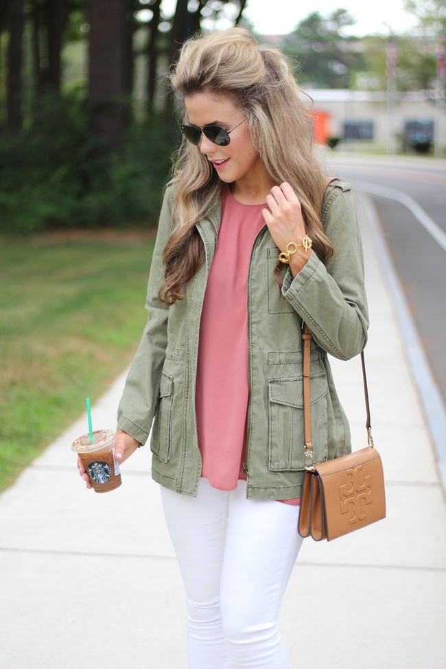 Image result for street style pink olive green
