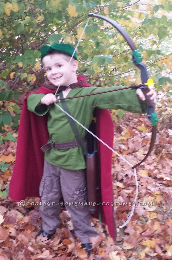 Cute robin hood costume for a boy robins homemade and for Easy halloween costume ideas for boys