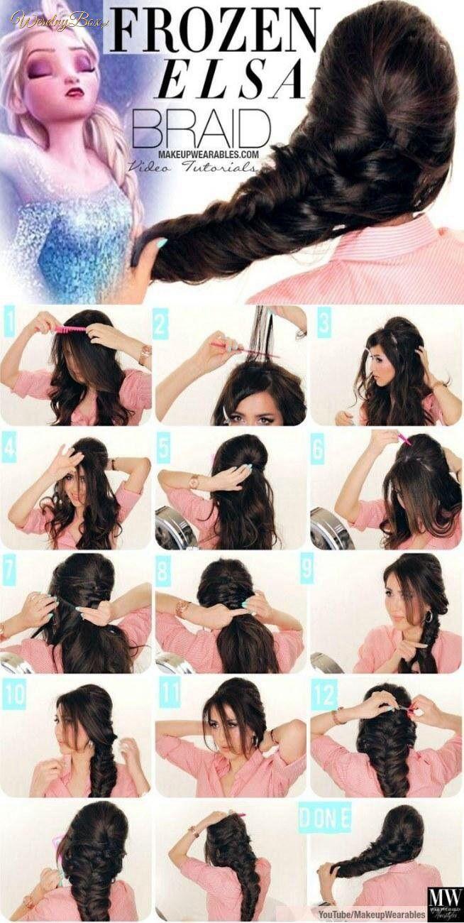 Fryzura Make Up And Hair Pinterest Elsa Braid Dream Hair And