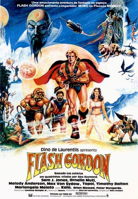 Man, there was a lot of promotional and advertising art created to sell Dino de Laurentis' Flash Gordon movie in the various world ...