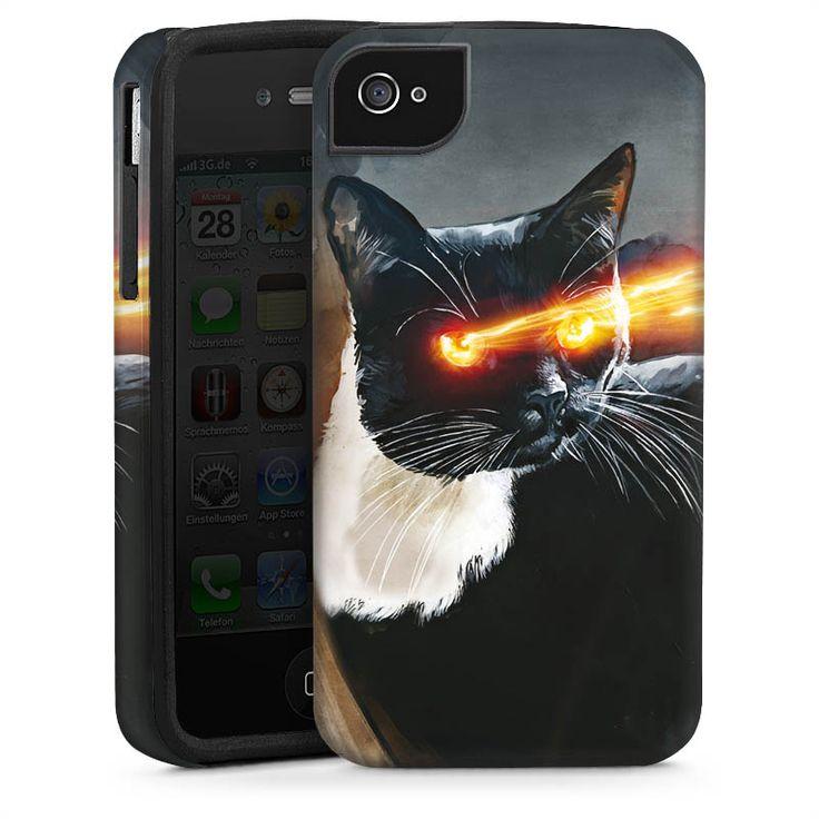 Laser Lucy - Neues Design für iPhone 4s -ToughCase white/black by DeinDesign.com // Link >> http://designskins.com/de/designs/tiere/laser-lucy // #deindesign #designcase #dd #handycase #handycover #handyhuelle #smartphone #iphone #phonecase #case #cover #huelle #bag #tasche #cat #catcontent #pets #katze #kater #dogs #haustier