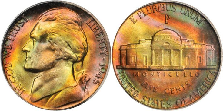 The March 2010 Baltimore Auction Lot #577. 1945-P Jefferson Nickel. MS-67 (PCGS). $3,738