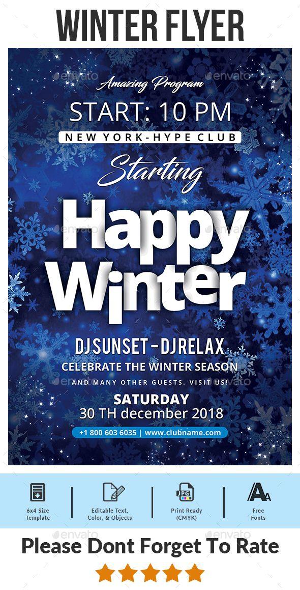 Winter Flyer Technology Photo Pinterest Flyer template, Event