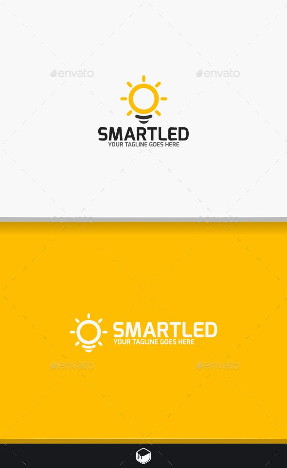 Smart Led Logo — Vector EPS #electric #smart • Available here → https://graphicriver.net/item/smart-led-logo/9494302?ref=pxcr