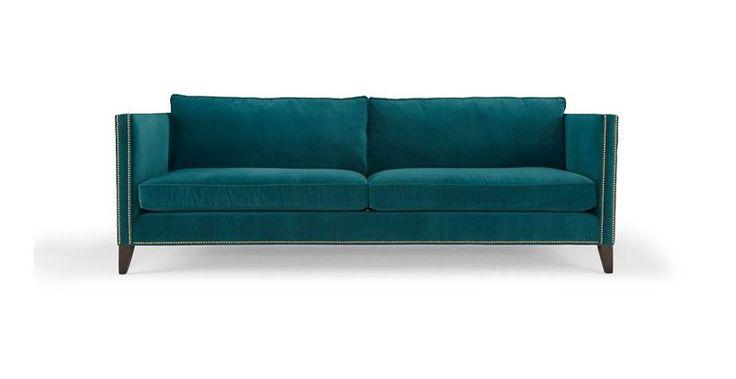 Mitchell Gold Bob Williams 39 Liam 39 Sofa Teal Furniture