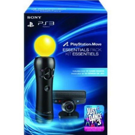 PlayStation Move redefines motion gaming with the most immersive and realistic gaming experience only possible on the PlayStation 3 system. The PlayStation Move Essentials Bundle includes the PlayStation Move Motion Controller, the PlayStation Eye Camera, Just Dance 3 Voucher, and a Demo Disc with over 10 game demos.
