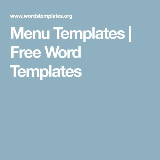 Best 25+ Free menu templates ideas on Pinterest Menu printing - microsoft office menu templates