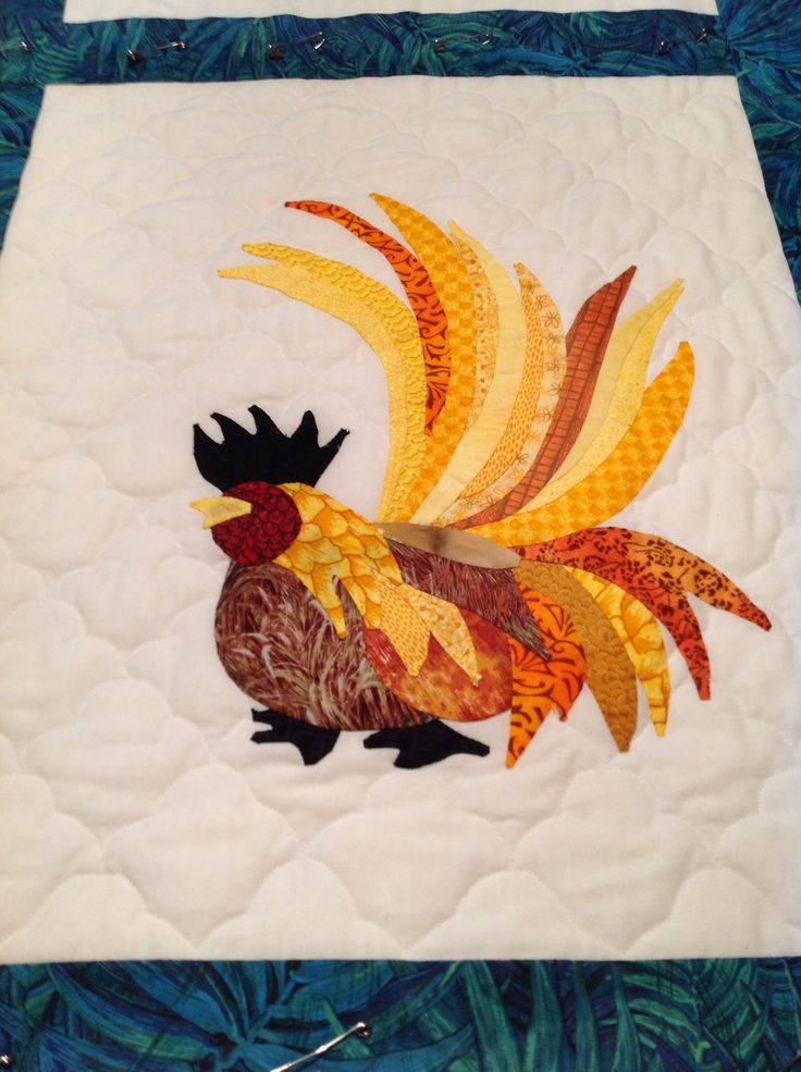 25 Best Images About Rooster Quilts On Pinterest Free