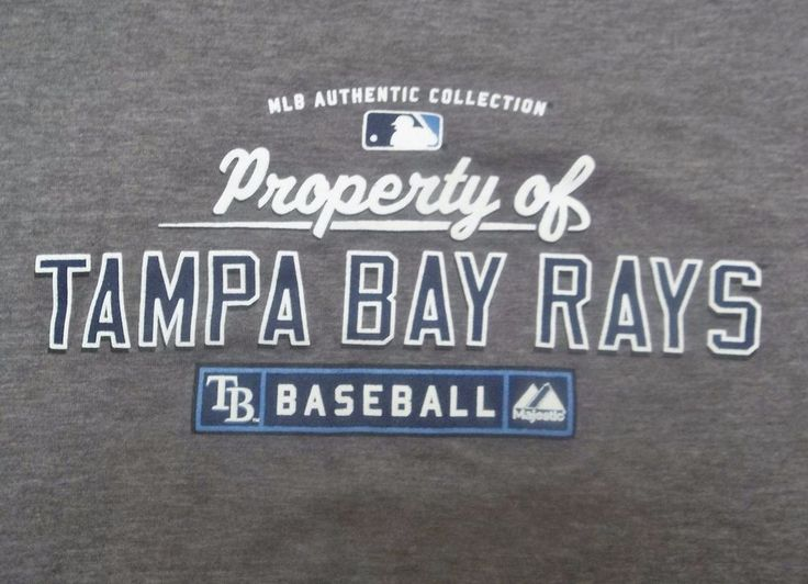 Property Of Tampa Bay Rays Ladies Shirt L Large MLB Authentic Collection #Majestic #TampaBayRays