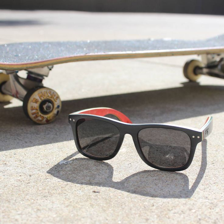 Proof 'Ontario' Skate Rasta #sunglasses - made from #recycled #skateboards! These are some of my favourite sunglasses in our entire range.