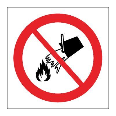 Forbudt å slokke med vann - Kjøp Forbudsskilt her