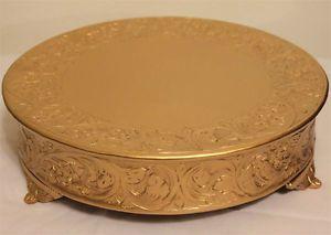 Grand Wedding Matte Gold Round Cake Stand Plateau 14 Inch | eBay