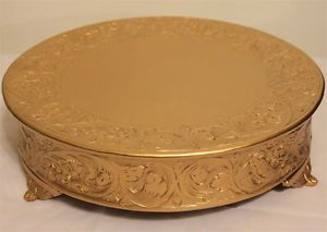 Grand Wedding Matte Gold Round Cake Stand Plateau 14 Inch | eBay