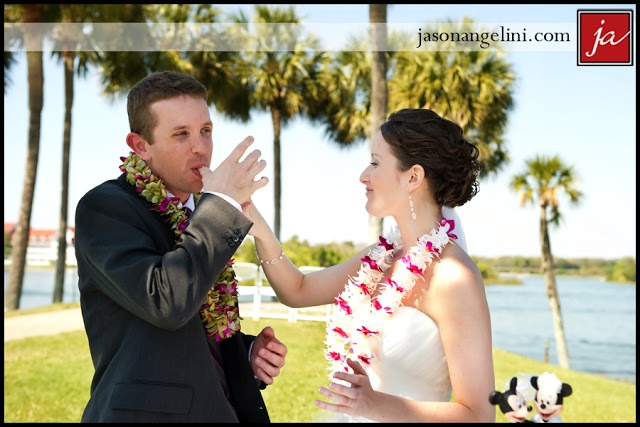 Polynesian wedding with leis - Wedding Spotlight: Holly + Brett | Magical Day Weddings | A Wedding Atlas Fan Site for Disney Weddings