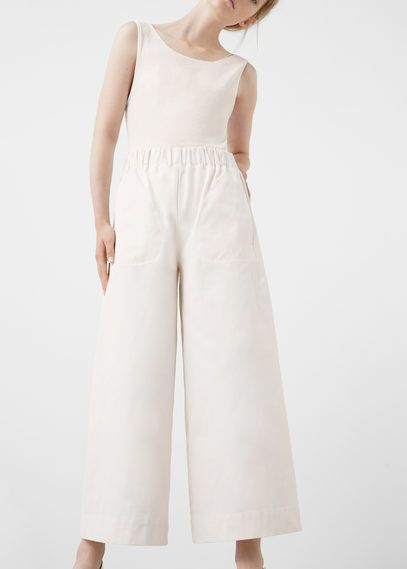 PREMIUM - Cropped palazzo trousers