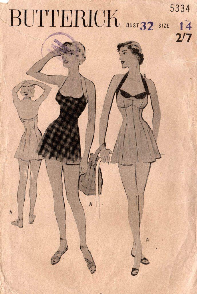 Vintage 40s 1940s skirt black unused