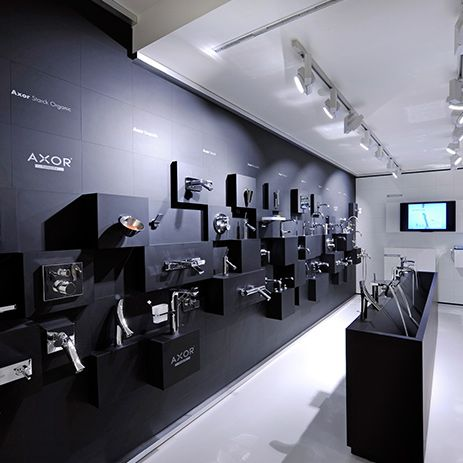 The first Axor showroom in Europe, Axor DURINIQUINDICI, presents the great product variety of the brand. Photo: © Alessandro Lercara