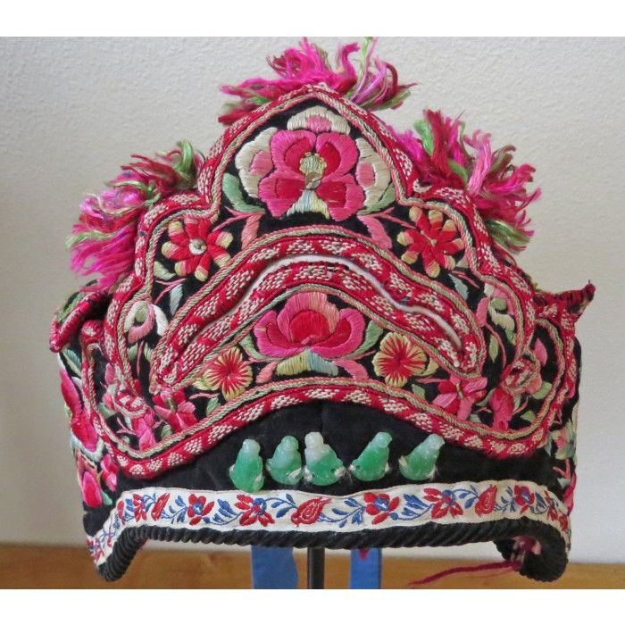 Jade Buddha Hat | Chinese Textiles | Fabric of Life Handmade Textiles, Cards & Conservation