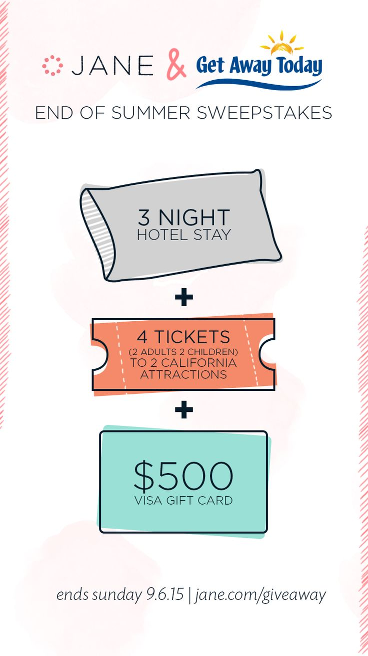 School's back in and summer is almost over. Before we go cry our eyes out that winter is just around the corner, let's hold onto the last bit of summer with a sweepstakes! How does a 3 Night Stay + Tickets to your favorite theme park sound? We think it sounds pretty good too! Click to Enter!