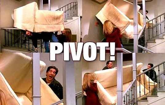 """""""PIVOT, PIVOT, PIVOT."""" """"SHUT UP, SHUT UP, SHUT UP."""" 