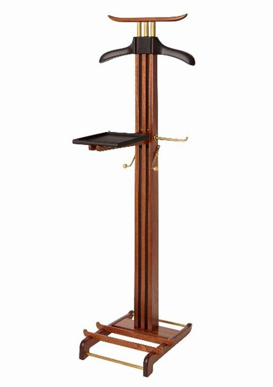 Hermes Mahogany & Leather Valet Stand: